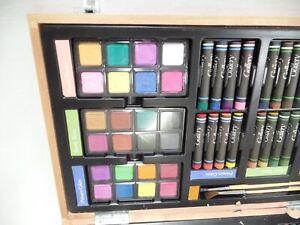 Gallery Studio Deluxe Art Set In Wooden Case Art Supplies Pencils Paint Pastels