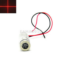 INDUSTRIAL Focusable 650nm 100mW Red Cross Laser Diode Module 12x45mm w/Driver