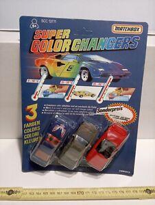 MATCHBOX SUPER COLOR CHANGERS KIT N°4 VINTAGE NEW!!!