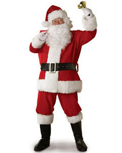 Vestito Costume Babbo Natale Completo Cosplay Santa Claus Christmas Suit SANTC02