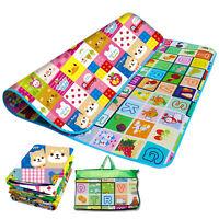 2 SIDE KIDS CRAWLING EDUCATIONAL GAME PLAY MAT SOFT FOAM PICNIC CARPET 200X180CM