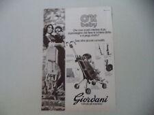 advertising Pubblicità 1976 GIORDANI PASSEGGINO