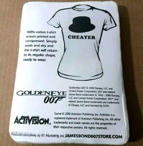 Nintendo Goldeneye 007 Oddjob's hat CHEATER T-Shirt 2010 Official Promo Size L