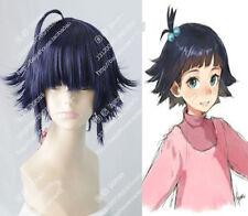 cosplay wig Uzumaki Himawari Hima NARUTO blue-black Short  synthesis wigswigs
