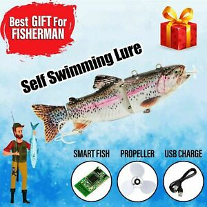 USB Self Swimming Fishing Lure Gift For Fisherman Propeller With Charger