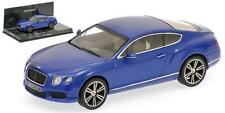 Minichamps BENTLEY CONTINENTAL GT v8 2011 BLU METALLIZZATO 1:43 (436139982)