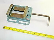 Vise Vintage Machinist Or Woodworkers Low Drill Press Vise 4 Wide Jaws Open