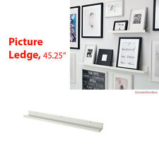 "IKEA 45"" Picture Ledge MOSSLANDA White Wall Floating Shelf for Ribba Frame Rack"