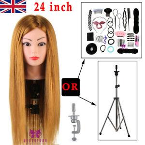 "Neverland 24"" Real Hair Hairdressing Training Head Mannequin Doll Beauty UK Ship"