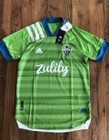 63 NEW ADIDAS Seattle Sounders 20/21 Home Authentic MLS Jersey M EH6214 $130