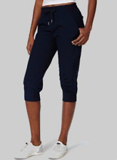 91dd5bfa6f3829 Calvin Klein Womens Cuffed Capri Pants Solitaire Blue Size XL -