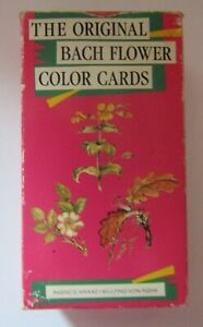 The original Bach Flower Color Cards by Ingrid Katz 1989 unused no instructions