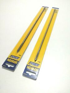 Irwin Blue 4x Groove Bits Set of 2 Flat Bit 6mm and 8mm x 400mm Wood Drill Bit