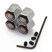 Modified Car Wheel Tire Valve Stems Caps Anti-Theft Locking For Cadillac b jS390