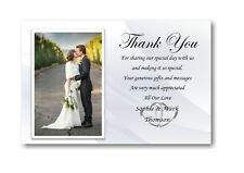 40 Personalised Wedding Day , Wedding Evening Thank You , Thankyou Cards Ref W3