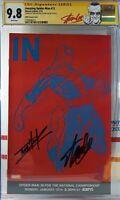 🌟 TOM HOLLAND + STAN LEE SIGNED CGC 9.8 NM AMAZING SPIDER-MAN #12  ESPN VARIANT