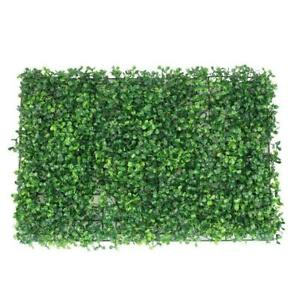 Plant Artificial Mat Greenery Wall Hedge Grass Fence Foliage Panel Decor