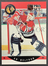 1990-91 Pro Set Hockey - #598 Ed Belfour RC - Chicago Blackhawks
