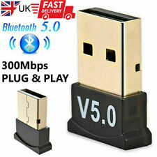 More details for usb bluetooth 5.0 adapter plug & play dongle high speed for pc ps4 for windows