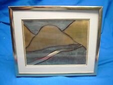 Dick Greer Mountain Stream metal framed art signed
