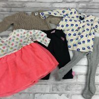 Baby Girl Fall Winter Clothes Lot of  6-9 Months Sweater Tops Pants Carters More