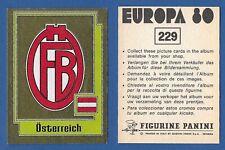 SCUDETTO CALCIATORI PANINI EUROPA 80 - NUOVO/NEW - N.229 OSTERREICH