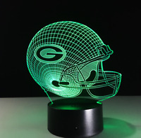 Green Bay Packers Collectible Decor Night Light Touch Lamp Gift- Men,Kids,Women