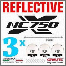 3x Rifrangenti ADESIVI Nero compatibile con NC 750 S HONDA moto casco NC750