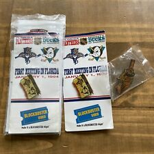 Florida Panthers vs Mighty Ducks Blockbuster NHL Pin Stadium Giveaway 1994-SET