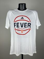 Men's Adidas Indiana Fever White Short-Sleeve Graphic Logo Shirt WNBA NWOT M