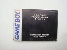 Notice d'origine instruction manual pour première console game boy