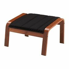 New IKEA POANG Footstool with Ransta Black Cushion