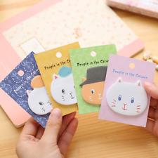 Cartoon Animal Cute Cat Head Sticker Bookmark Post It Marker Memo Sticky Notes