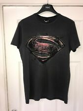Official Superman Man of Steel T Shirt DC  Size Small