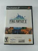 Final Fantasy XI 11 Online PlayStation 2 PS2 Video Game Tested & Working