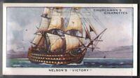 HMS Victory Lord Nelson Battle of Trafalgar Flagship  80 Y/O Ad Trade Card
