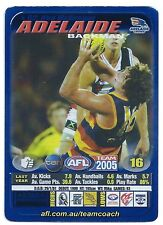 2005 Teamcoach Blue Star Premium Prize Card (02) Ken McGREGOR Adelaide