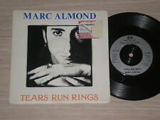 """MARC ALMOND - TEARS RUN RINGS / EVERYTHING I WANTED LOVE TO BE - 45 GIRI 7"""" UK"""