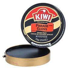 Kiwi Parade Gloss Black Premium Shoe Wax Polish Military Grade 2.5 Oz.