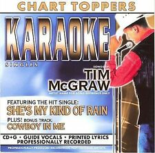 BCI MUSIC TIM McGRAW CHART TOPPERS Vol-40405-2  Karaoke CDG 4 Songs MULTIPLEX