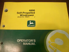 John Deere Tractor Operator'S Manual 4890 Self-Propelled Windrower Issue J9
