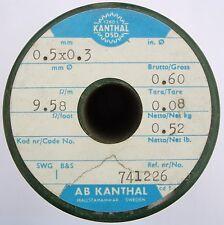 Kanthal DSD 0,5x0,3mm 9,58Ω/m, Flach Flachdraht Widerstandsdraht Heizdraht, 7m