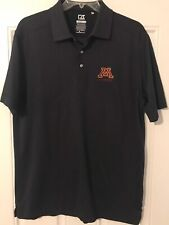 Minnesota Gophers Cutter & Buck Black Drytec Luxe Golf Polo Shirt ~ Men's Xl