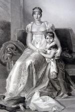 HORTENSE DE BEAUHARNAIS REINE DE HOLLANDE NAPOLEON GRAVURE 1838 VERSAILLES R2583