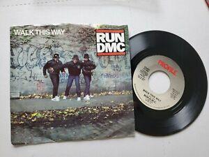 """Run D.M.C Walk This Way / King Of Rock 1986 Old School Rap Hip Hop 7 """" P/S"""