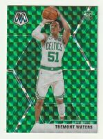 2019-20 Panini Mosaic Prizm Green Tremont Waters Boston Celtics SP RC #214