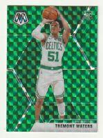 2019-20 Panini Mosaic Prizm Green Tremont Waters Boston Celtics SP RC #214