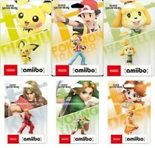 amiibo Super Smash Bros. Pichu Pokemon Trainer Shizue Ken Young link Daisy 6 SET