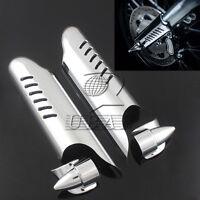 Fork Lower Leg Deflectors Shield Cover Chrome For Harley Touring FLHT 2000-2013
