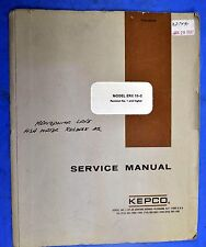 KEPCO ERX 15-2 Power Supply Service Manual